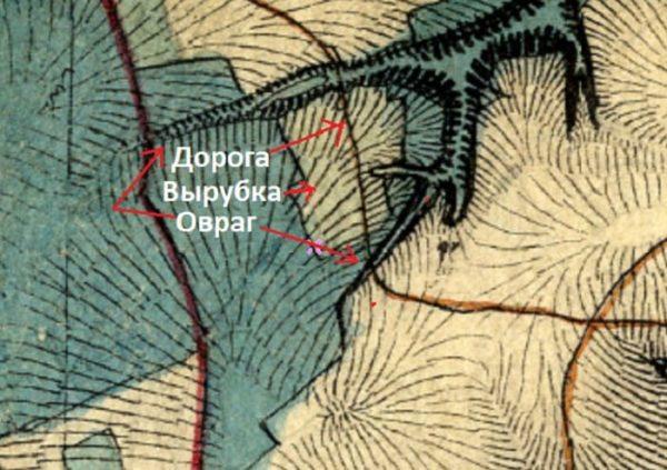 Место на старой карте