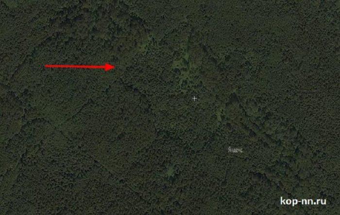 Поиск мест для копа по спутниковым снимкам в лесу