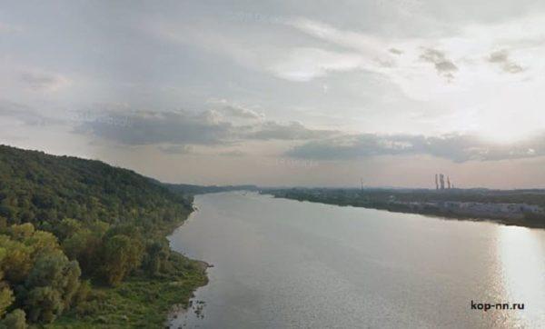 Река Ока Нижний Новгород вид с карповского моста