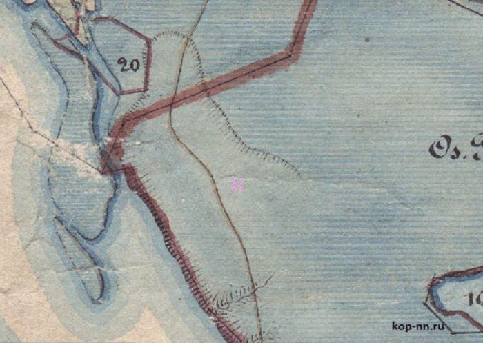 Старинная карта 1850 год Нижегородская область