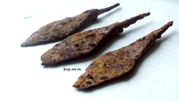 Железные наконечники стрелы 12-13 век