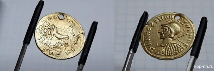 Монета золотой ауреус