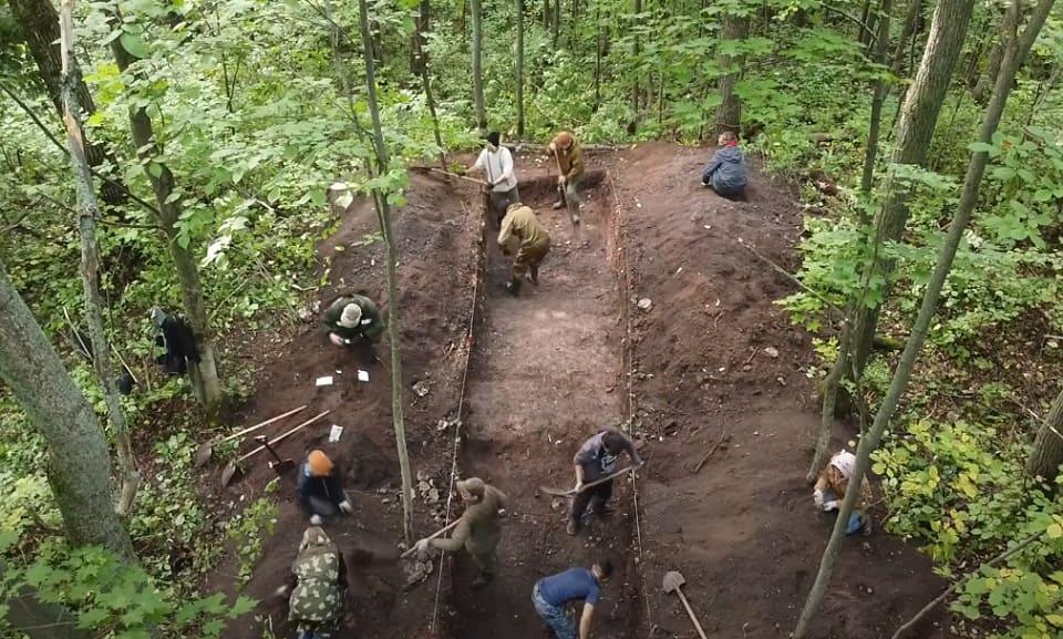 Археологические раскопки на селище